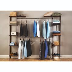 Seville classics expandable wardrobe closet steel bronze $119+