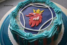 Kirsin keittiössä: Scania-kakku Birthday Cake, Desserts, Food, Tailgate Desserts, Deserts, Birthday Cakes, Essen, Postres, Meals