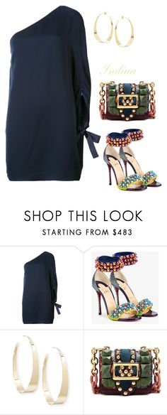"""""""Untitled #4088"""" by teastylef ❤ liked on Polyvore featuring Halston Heritage, Christian Louboutin, Lana and Burberry"""