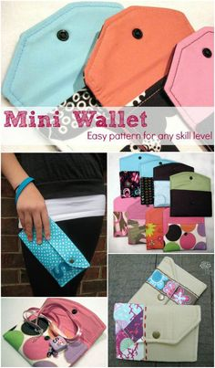 10 Ways to transform the basic mini wallet pattern. The Sewing Loft