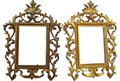 One Kings Lane - Bed, Bath & Boudoir - French Bronze Frames, Pair: 535!
