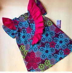 Unique african print wear for kids. Ankara Styles For Kids, African Dresses For Kids, African Fashion Dresses, Kids Summer Dresses, Little Girl Dresses, Baby Dresses, Baby Dress Design, Kids Gown, Cute Kids Fashion