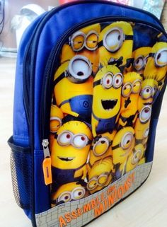 "New Despicable Me 2 Minions 16"" Backpack Front School Bag NWT #Despicable #Backpack"