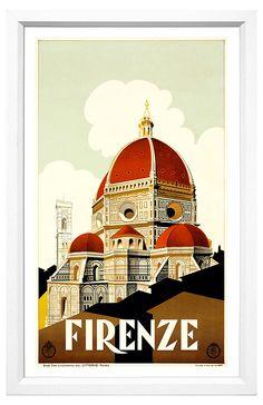 Firenze Travel Poster | Art for All | One Kings Lane $199