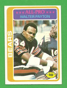 walter payton football cards | Walter Payton : Chicago Bears - 1978 Topps Football Card