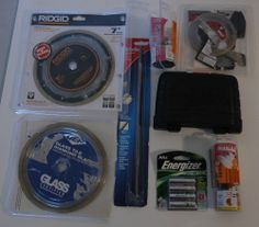 GREAT 8 PC Tool Lot (Ridgid, Freud, Nicholson File)