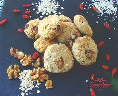 Biscoitos de amendoa e aveia
