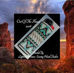 Bead PATTERN Sante Fe Lighter Cover Peyote Brick par Outoftheflames