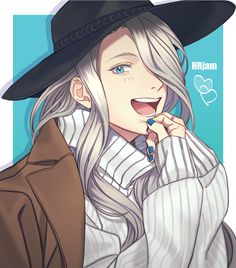 look how cute this young cupcake is!!! - Yuri on ICE / Viktor Nikiforov / Vitja / long hair Viktor