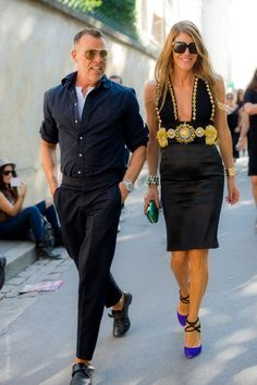 george and anna - i'm obsessed with both these fits. super clean, one big statement