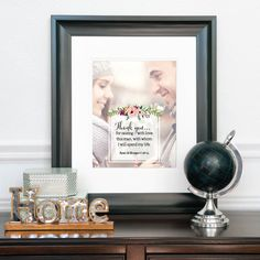 Wedding Gift for Parents, Groom's Parents Gift, Thank You Wedding Gift, Customize with Your Photo // Choose Art Print or Canvas // W-Q13-1PS