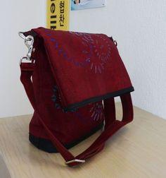 1 Tasche x 4 » BERNINA Blog Sewing Tutorials, Messenger Bag, Satchel, Pouch, Backpacks, Shoulder Bag, Purses, Blog, Pattern