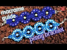 Macrame guide: The penny bracelet with bead, step by step tutorial by Tita - YouTube