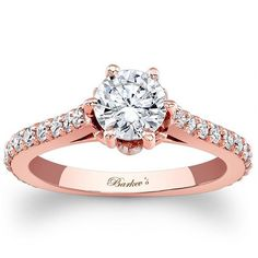 1 1/3ct diamond engagement ring14k rose gold jewelryClick here for ring sizing guide