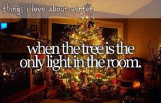 I love when all the lights are out except those on the tree!  It's the best... It's magical!