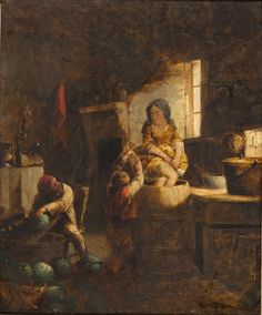 Kraut Making, David Gilmour Blythe, circa 1859, Gift of Mrs. Franklin Hazelhurst
