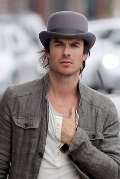 If you can drag your eyes off Ian Somerhalder, that is an amazing bowler
