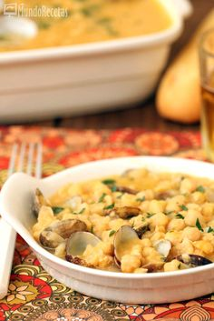 Garbanzos con almejas en Thermomix TM5 Cheeseburger Chowder, Macaroni And Cheese, Ethnic Recipes, Food, Crock Pot, Chickpeas, Dishes, Clams, Tasty