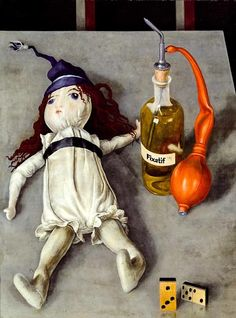 Rudolf Wacker (Austria 1893-1939), Doll with Fixative Bottle, 1929.