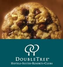 Hilton Double Tree Hotel's Chocolate Chip Cookie Recipe  (Makes 25 cookies)  9 oz. - Butter, softened, lightly salted  6 3/4oz. - Sugar, granulated  4 1/2 oz. - Sugar, light brown  3 ea. - Eggs, large  1/2 + 1/4 T/tsp - Vanilla, imitation  3/4 tsp - Lemon Juice Concentrate (real lemon)  1/2 tsp - Baking soda  1/4 T - Salt  1/4 tsp - Cinnamon  1 1/2 oz. - Roll Oats (Quaker Quick Oats)  12 oz. - Flour, all purpose  18 oz. - Chocolate Chips, semi-sweet (Ghiradelli)  12 oz. - Walnuts, chopped…