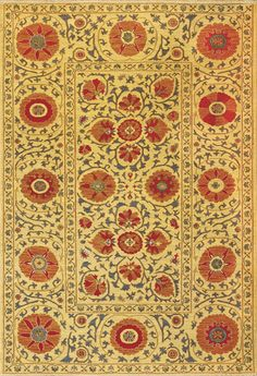 SUZANI2, Canary, Dhurrie/Kelim/Soumak, Tibet Rug Company available from rugsdoneright.com