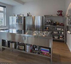 Home Decor Kitchen, Diy Kitchen, Kitchen Interior, Home Kitchens, Bakers Kitchen, Bistro Kitchen, Restaurant Kitchen Design, Commercial Kitchen Design, Industrial Kitchen Design