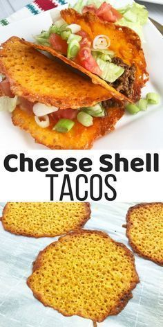Cheese Shell Taco Easy Keto Tacos with Cheese Shells- These Cheese Shell Tacos are perfect for a low carb diet or Ketogenic Diet. Cheese Shell Taco, Cheese Tacos, Keto Cheese, Low Carb Recipes, Diet Recipes, Healthy Recipes, Diet Meals, Recipes Dinner, Smoothie Recipes