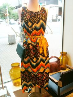 Tribal prints and color.