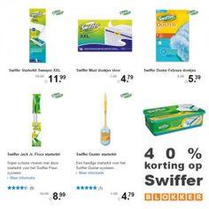 Actie van de dag: 40% korting op swiffer met o.a. swiffer duster bij...  #Swiffer #Duster #Blokker #Korting #KortingsWijzer #Actie #Kopen #Aanbieding