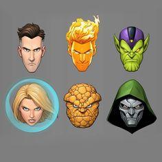 Credit: patrickbrownart Marvel Comics Art, Marvel Heroes, Comic Books Art, Comic Art, Marvel Animation, Marvel And Dc Characters, Brown Art, Silver Surfer, Fantastic Four