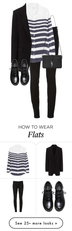"""""""Untitled #10781"""" by alexsrogers on Polyvore featuring Burberry, Equipment, rag & bone, Yves Saint Laurent, women's clothing, women's fashion, women, female, woman and misses"""