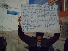 Lampedusa, march 2011, tunisian refugee