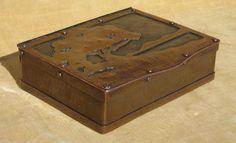 Arts and Crafts Dirk Van Erp Hammered Copper Cigar Box