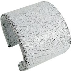 Cracked white leather cuff | Fabien Ifires