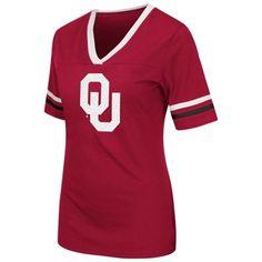 Colosseum Oklahoma Sooners Women's Crimson Aurora Short Sleeve T-Shirt