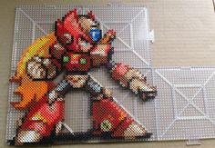 Zero - Mega Man perler beads by RigGarage22 (sprite made by Abyss Wolf)