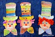 Dettato di pregrafismo: in ogni riga un segno! 1) righe verticali 2) cerchi 3) quadrati 4) triangoli ............... ....... Circus Activities, Circus Crafts, Theme Carnaval, Art Drawings For Kids, Art Lesson Plans, Art Plastique, Elementary Art, Spring Crafts, Holidays And Events