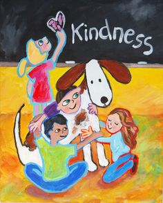 Kindness ~Peggy Johnson children classroom painting giclee art  at everygoodcolor on Etsy! http://www.etsy.com/shop/everygoodcolor
