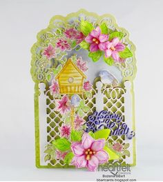 Climbing Clematis, Chartreuse Color, Clematis Flower, Bamboo Leaves, Paper Leaves, Beach Color, Heartfelt Creations, Large Flowers, Flourish