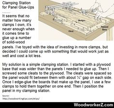 Clamping Station for Panel Glue-Ups