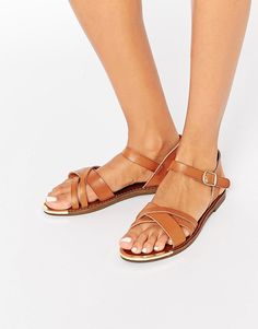 Image 1 ofNew Look Flat Strappy Sandal