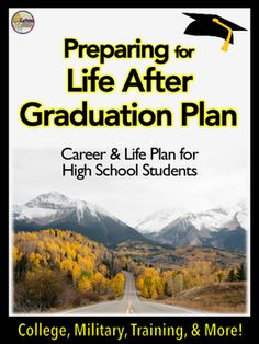 This high school graduation transition plan helps students make the transition from high school to the next step of life - college, military, or work. Great for guidance counselors, teachers, special education, advisors, and career and vocational uses.These plans are motivating and important for student goal setting.
