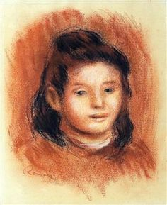Girl s Head - Pierre-Auguste Renoir