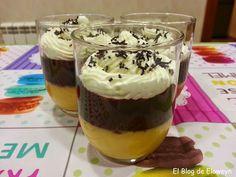 Vasitos de flan de naranja, chocolate y nata | Cocinar en casa es facilisimo.com