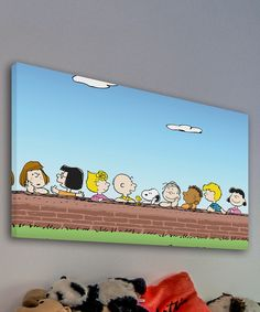 Look what I found on #zulily! Peanuts Wall Gallery-Wrapped Canvas by Peanuts by Charles Schulz #zulilyfinds