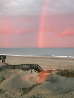 Rainbow off North Carolina Outer Banks.