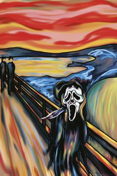 Custom painting The Scream By Edvard Munch painting oil painting on canvas Abstract Modern High quality Hand painted Free ship Scream Parody, Scream Art, Edvard Munch, Le Cri Munch, Ghostface Scream, Monet, Pop Art, Expressionist Artists, Famous Artwork