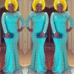 Nigerian wedding yellow and blue ore-iyawo aso-ebi color combination