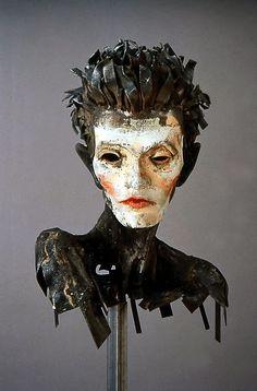 Steel Head/Sculpture ofEgon Schiele by Al Farrow