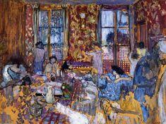 Petit-déjeuner à Villerville, Huile de Edouard Vuillard (1868-1940, France)